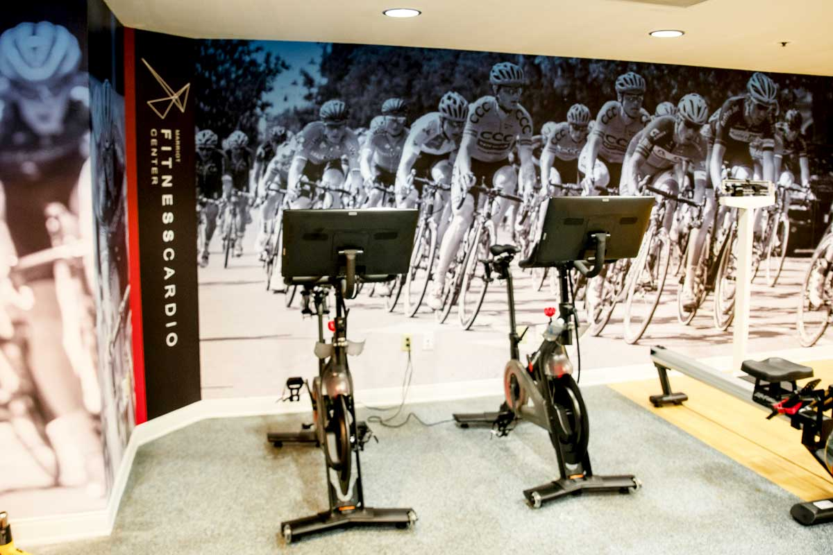 Custom wall graphics for gyms and fitness centers