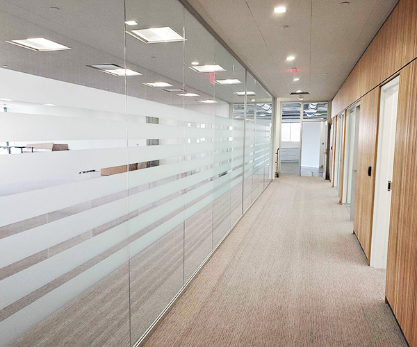 window graphics for interior offices