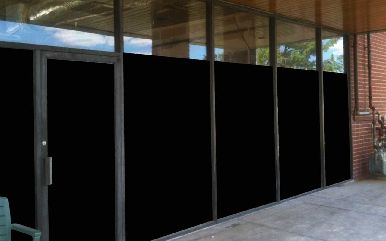 blackout window film for office construction
