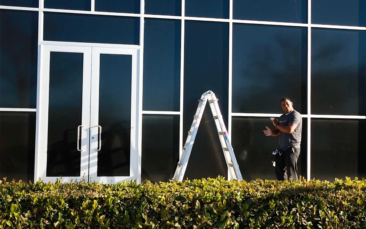 blackout window film for office buildings