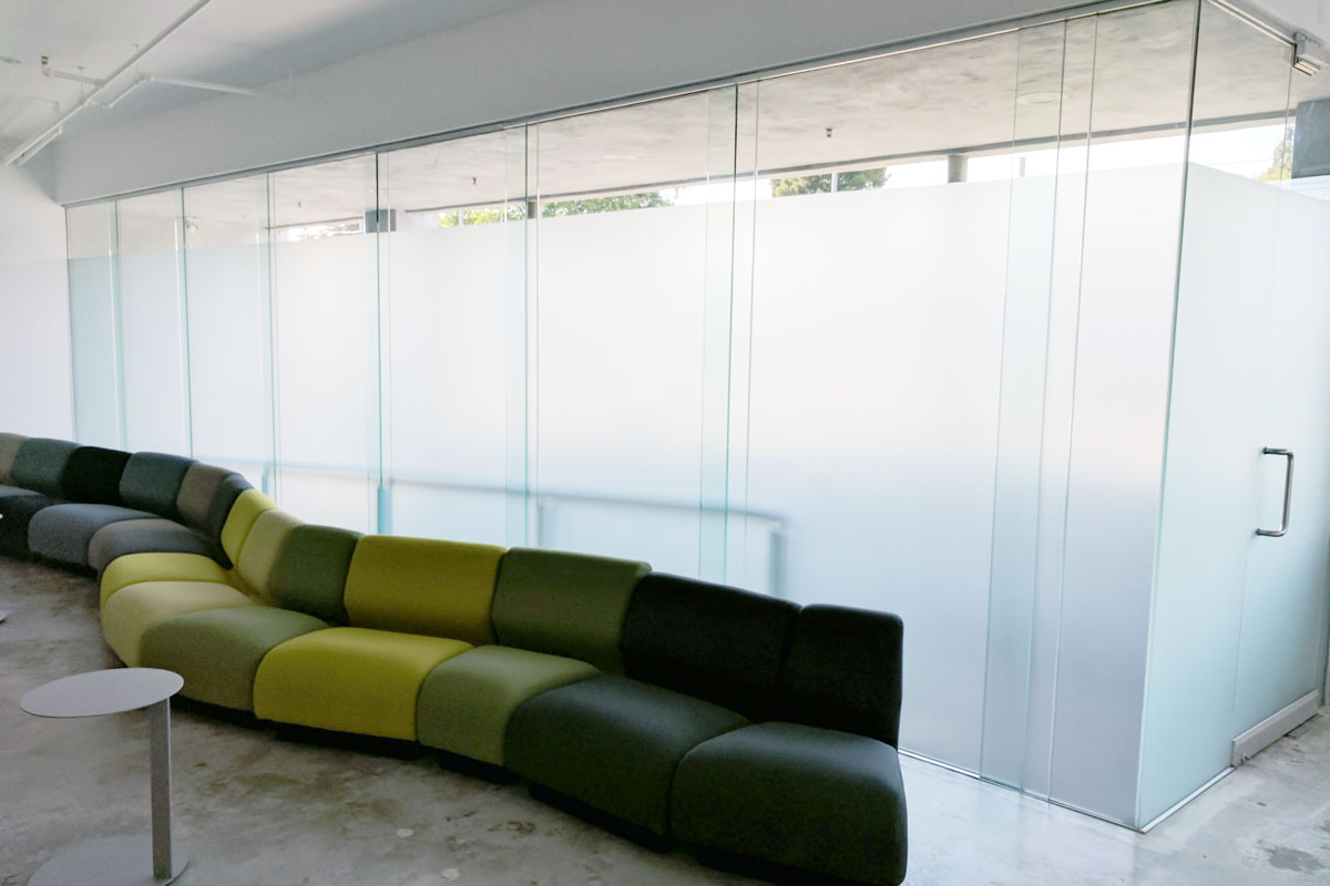 frosted window film conference rooms