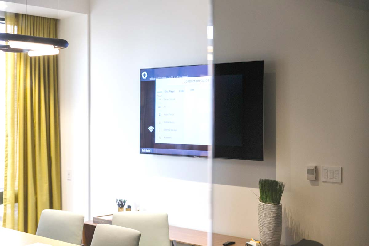 privacy window film for conference rooms