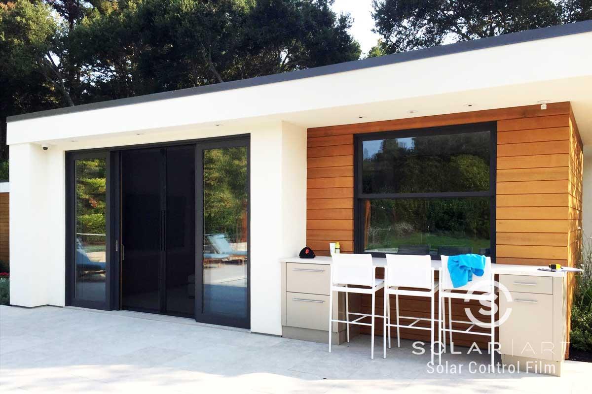 energy efficient window film for exterior windows