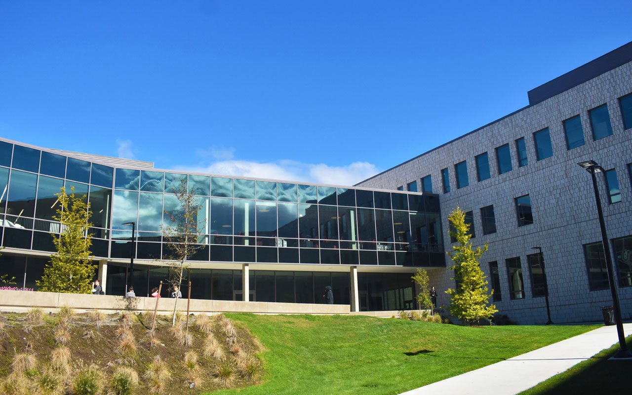 Glare reducing window film for offices