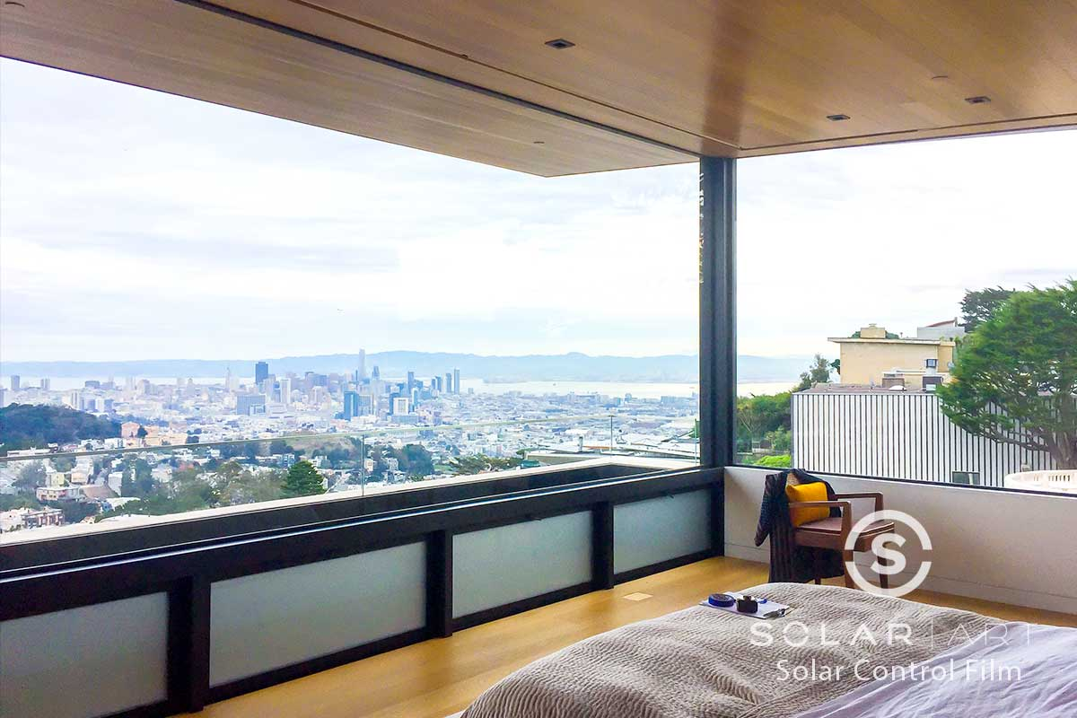 heat blocking window film for bedroom windows