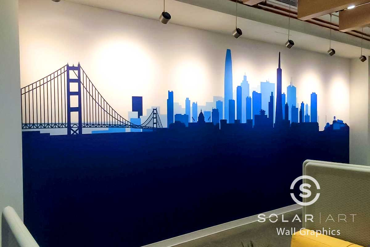 Custom wall graphics for office spaces