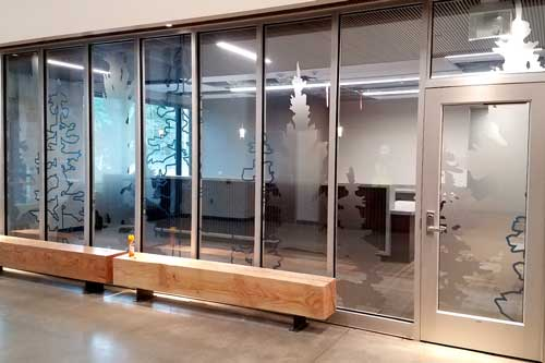 custom window graphics for office glass