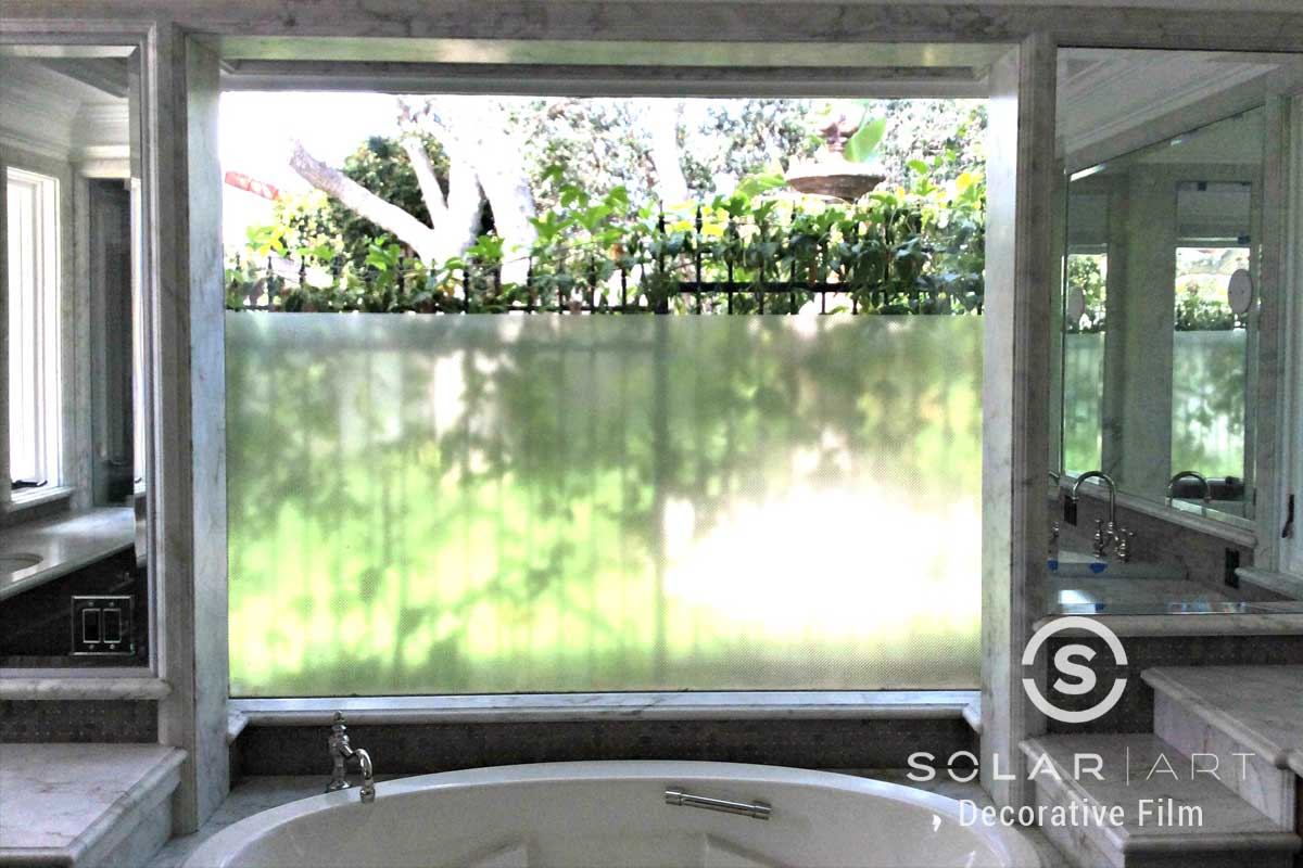 frosted window film for bathroom windows