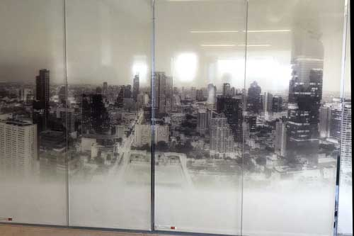 glass wall mural installed in san jose