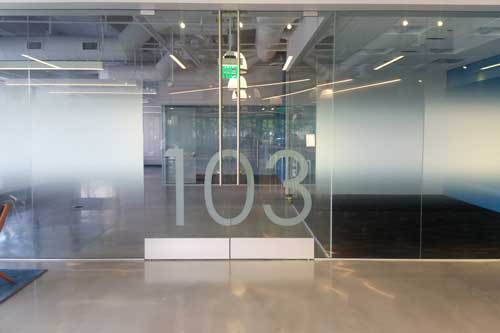 gradient window film office glass