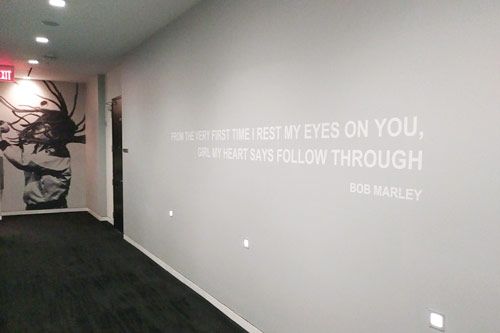 inspirational quote wall mural