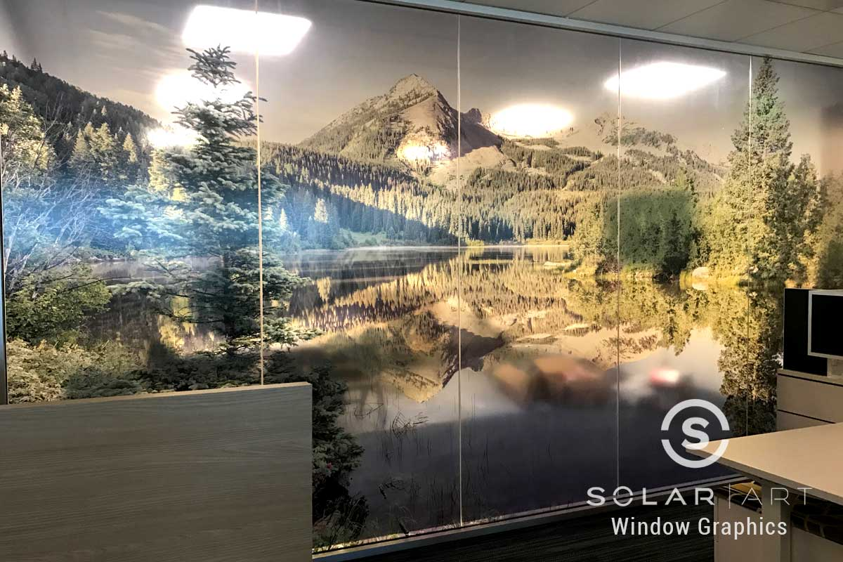 Window graphics for private offices