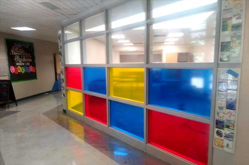 vinyl window film for schools