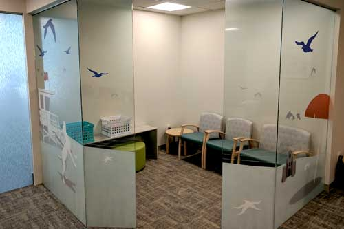 window graphics for waiting room
