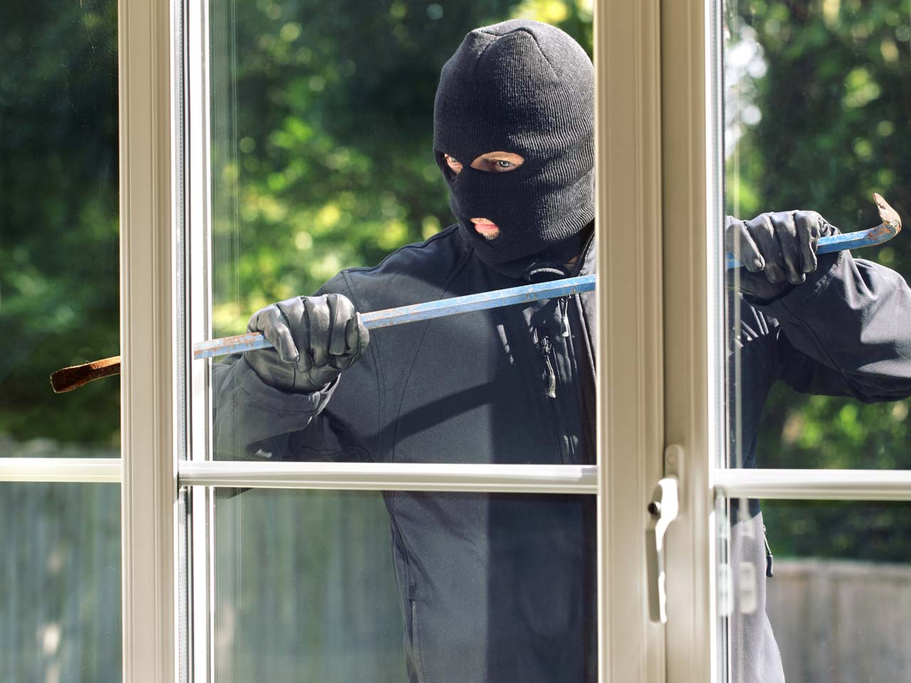 Security window film to protect from forced entry and burglary