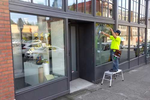 anti graffiti window film for storefront in seattle
