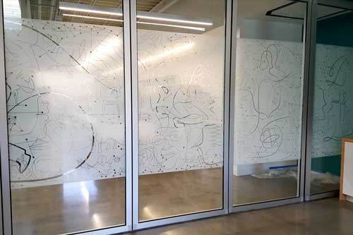 custom graphics for glass walls