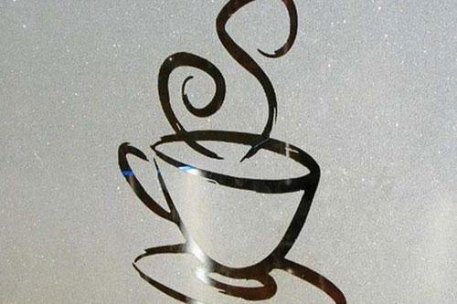Frosted window logo LA