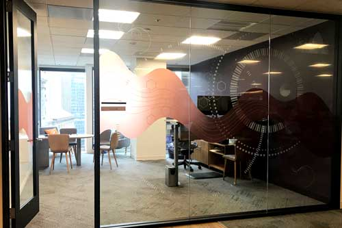 window graphics for office windows in san francisco ca